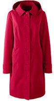 Lands' End Women's Coastal Rain Coat-Deep Sea Lattice