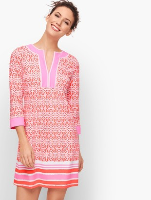 Talbots Cabana Life Embroidered Cover Up - Coral Lattice