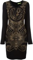 Versace studded fitted mini dress