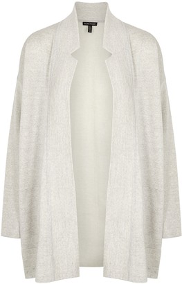 Eileen Fisher Ivory wool-blend cardigan