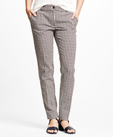 Brooks Brothers Wool Blend Gingham Pants