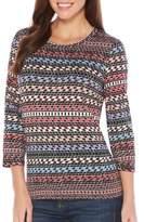 Rafaella Printed Jersey Cotton Top