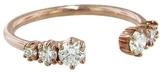 Jade Trau Medium Astor Diamond Band Ring - Rose Gold