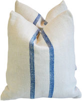 One Kings Lane Vintage French Homespun Textile Pillows, Pair