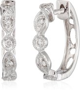 "KC Designs Charmed Life"" Diamond 14k Gold Estate Style Mini Hoop Earrings"