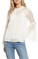 Lush Women's Shadow Stripe Blouse