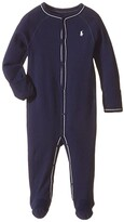 Polo Ralph Lauren Interlock Solid Coveralls (Infant) (French Navy) Boy's Overalls One Piece