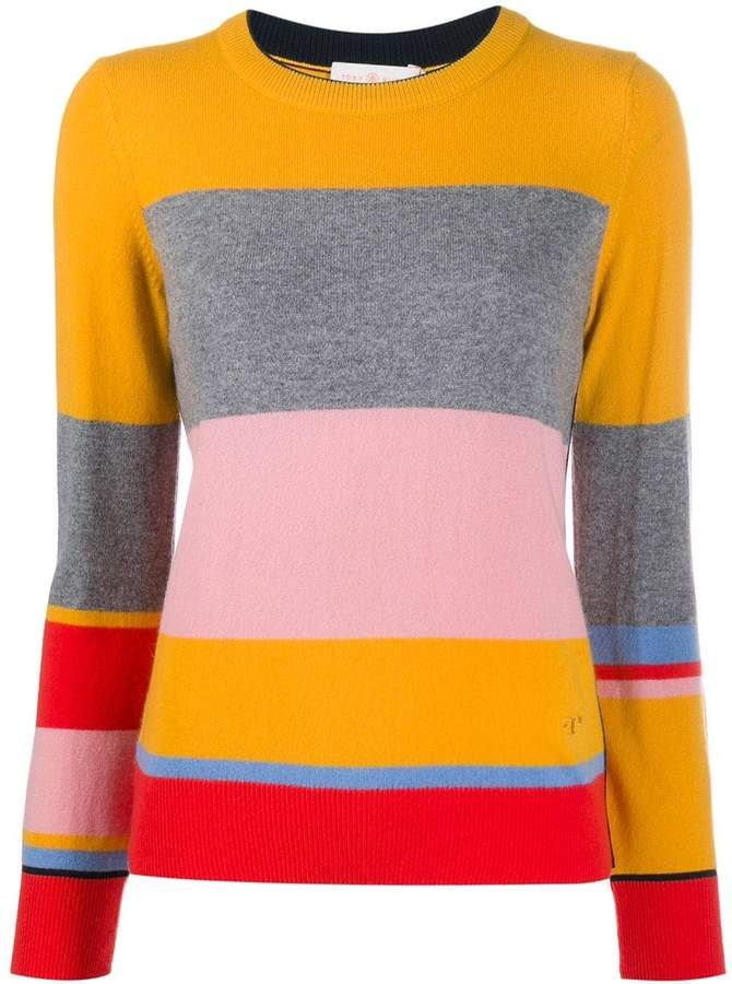Tory Burch striped knit sweater