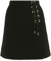 Karen Millen Black Eyelet Mini Skirt