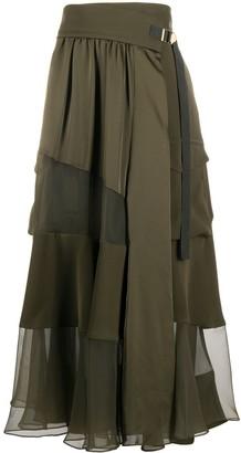 Sacai Patchwork Maxi Skirt
