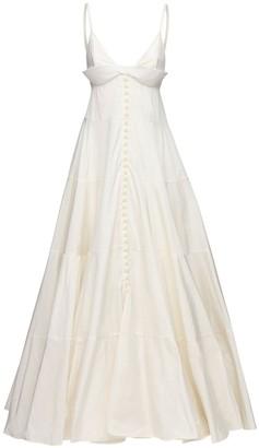 Jacquemus Long Buttoned Taffeta Dress