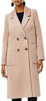 Warehouse Silk Blend Long Line Crombie Coat, Camel