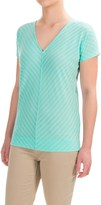 Ibex Shadow Stripe Shirt - Merino Wool, Short Dolman Sleeve (For Women)
