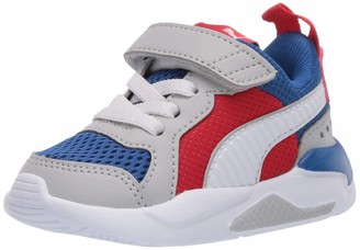 Puma Baby X-Ray Slip On Sneaker Royal-high Rise White-High Risk Red Black 7 M US Toddler