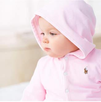 Polo Ralph Lauren Baby Girls Reversible Oxford Mesh Hoodie