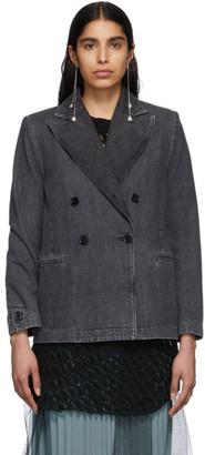 MM6 MAISON MARGIELA Black Denim Double-Breasted Jacket