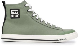Diesel High Top Logo Plaque Sneakers