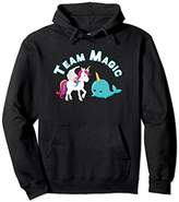 Unicorn Shirt Rainbow Team Magic Narwal Whale Hoodie Hood