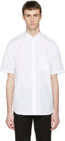 Givenchy White Star Sleeve Shirt