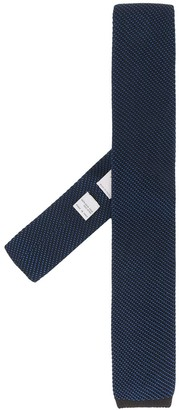 Canali Ribbed Short Tie