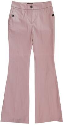 Burberry Pink Cotton Trousers