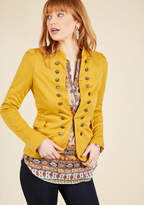 ModCloth I Glam Hardly Believe It Jacket in Goldenrod in S - Classic Blazer