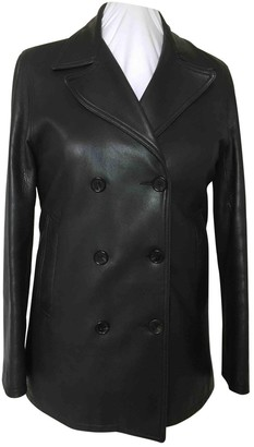 Jaeger Navy Leather Jacket for Women Vintage
