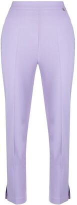 Elisabetta Franchi Split-Hem Cropped Trousers