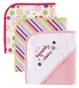 Baby Vision Babyvision® Luvable Friends® 3-Pack Embroidered Hooded Towel Set in Pink