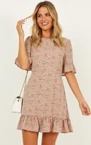 Showpo Only The Best Dress in mocha floral - 8 (S) Dresses