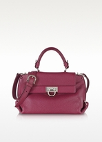 Sofia Small Grained Leather Satchel Bag