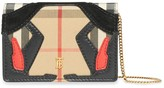 Burberry Vintage Check Card Case With Chain Strap