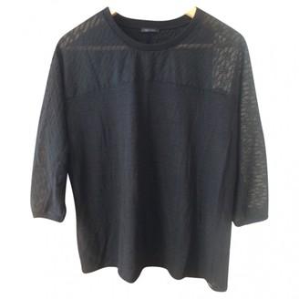 Ikks Black Linen Top for Women