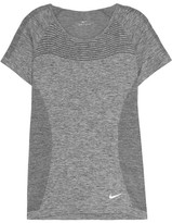 Nike Perforated Dri-fit Stretch-jersey T-shirt - Gray