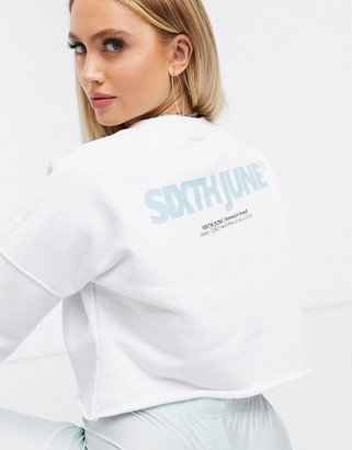 Sixth June cropped sweatshirt with logo two-piece