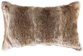 Lifestyle Brands Rabbit Fur Pillow