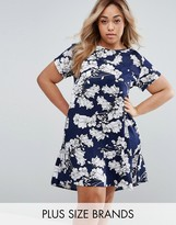 AX Paris Plus Swing Dress In Floral print