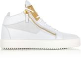 Giuseppe Zanotti White Leather High Top Men's Sneakers