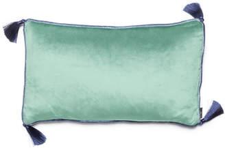 Bivain Jade Velvet Rectangular Cushion With Tassels