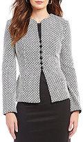 Preston & York Christy Button-Front Knit Jacket