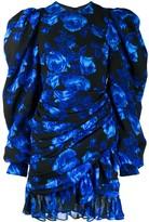 Richard Quinn puff sleeve floral mini dress
