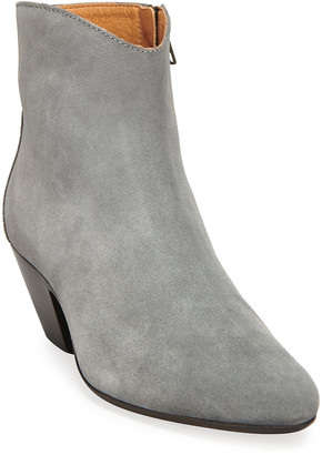 Isabel Marant Dacken Suede Ankle Zip Booties