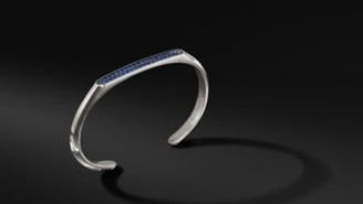 David Yurman Streamline Cuff Bracelet With Sapphires