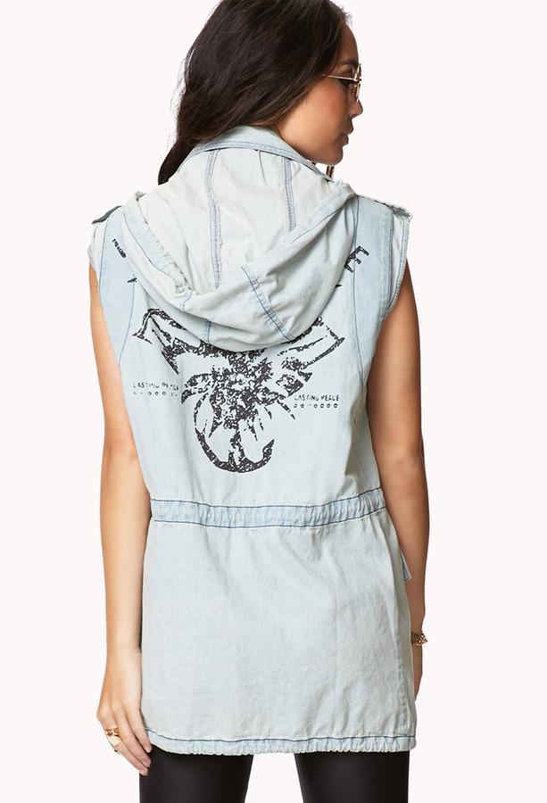 Forever 21 Lasting Peace Utility Vest