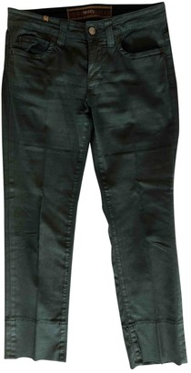 Notify Jeans Green Cotton Trousers for Women