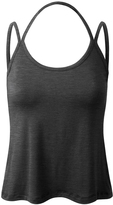 Charcoal Strap-Accent Halter Tank - Plus Too