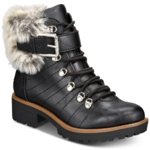 Sun + Stone Jojo Cold-Weather Lug Sole Boots, Created for Macy's Women's Shoes