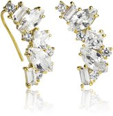 Kate Spade Cluster Crawler Earrings In Gold Setting