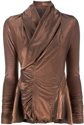 Rick Owens Lilies Wrap Fitted Jacket