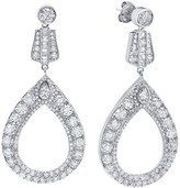 Crislu Sterling Silver CZ Cutout Drop Earrings